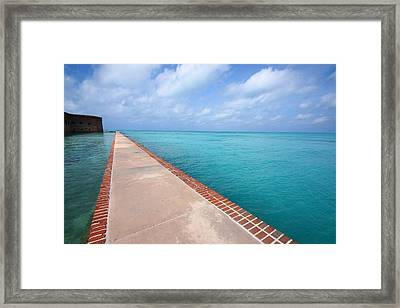 Fort Jefferson At Dry Tortugas National Park Framed Print by Jetson Nguyen
