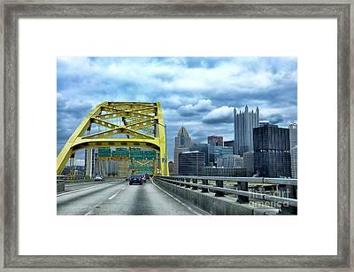 Fort Pitt Bridge And Downtown Pittsburgh Framed Print by Thomas R Fletcher