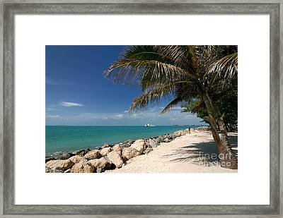 Fort Zachary Taylor Beach Framed Print by Amy Cicconi