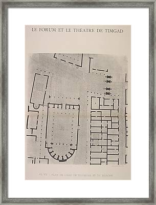Forum Of Timgad Framed Print by British Library