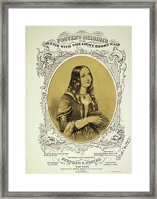 Foster Song Sheet, 1854 Framed Print by Granger
