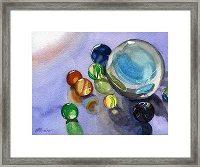 Found My Marbles Framed Print