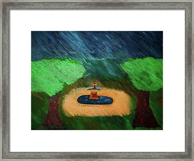 Fountain In The Midst Framed Print by Bamhs Blair