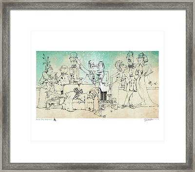 Four Dry Martinis Framed Print by Dennis Wunsch