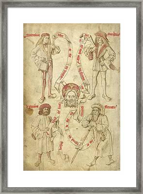 Four Humors, Hippocratic Medicine Framed Print