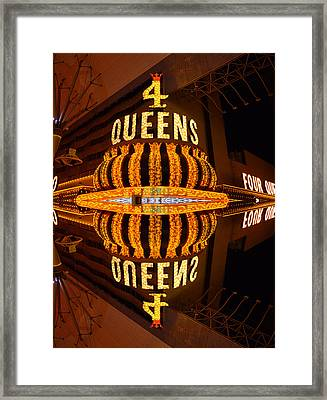 Four Queens 2 Framed Print