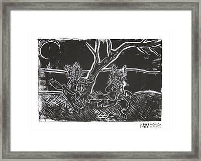 Foxy Night Framed Print