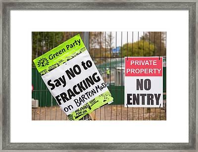 Fracking Site Framed Print by Ashley Cooper