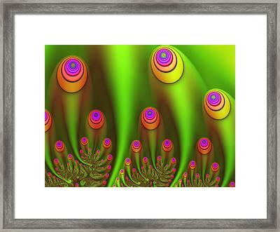 Fractal Fantasy Garden Framed Print