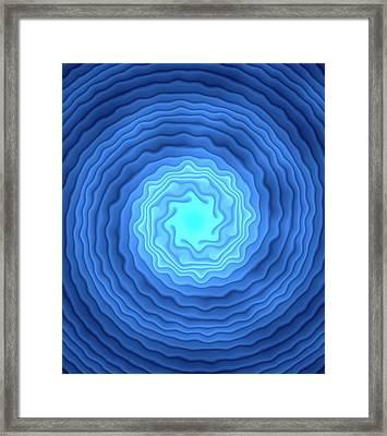 Fractal Spirals Framed Print