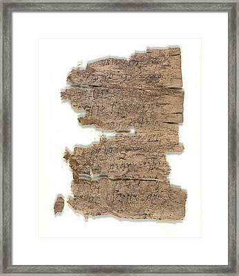 Fragmentary Buddhist Text Framed Print by British Library
