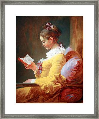 Framed Print featuring the photograph Fragonard's Young Girl Reading by Cora Wandel