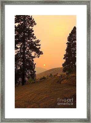 Framed Sunset Framed Print by Robert Bales