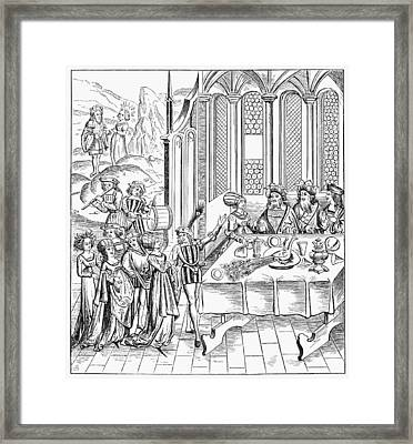 France Banquet, 1517 Framed Print