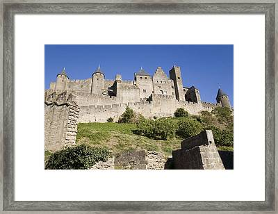 France. Carcassonne. Medieval City Or Framed Print