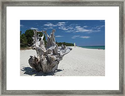 France, Corsica, Costa Serena Framed Print by Walter Bibikow