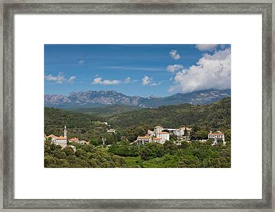 France, Corsica, La Alta Rocca, Levie Framed Print by Walter Bibikow