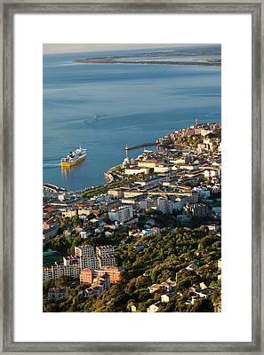 France, Corsica, Le Cap Corse, Bastia Framed Print by Walter Bibikow