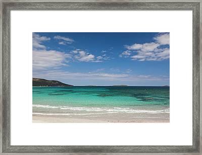 France, Corsica, Porto Vecchio, Plage Framed Print