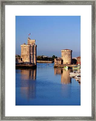 France, La Rochelle, Vieux Port, Tour Framed Print by David Barnes
