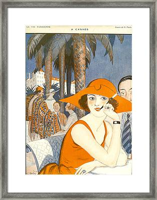 France La Vie Parisienne Magazine Plate Framed Print by The Advertising Archives