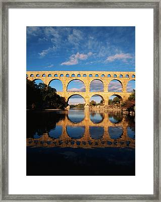 France, Languedoc, Gard, View Of Pont Framed Print
