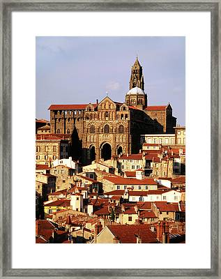 France, Le Puy, Haute Loire, Cathedral Framed Print