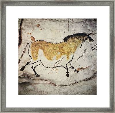 France. Montignac. The Cave Of Lascaux Framed Print