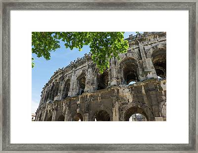 France, Nimes, Roman Amphitheater Or Framed Print by Emily Wilson