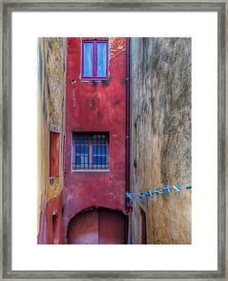 France, Provence, Roussillon, Colorful Framed Print by Terry Eggers