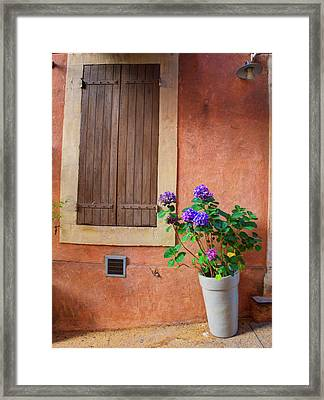 France, Provence, Roussillon, Town Framed Print by Terry Eggers
