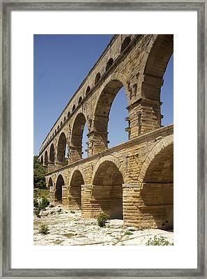 France. Vers-pont-du-gard. Roman Framed Print