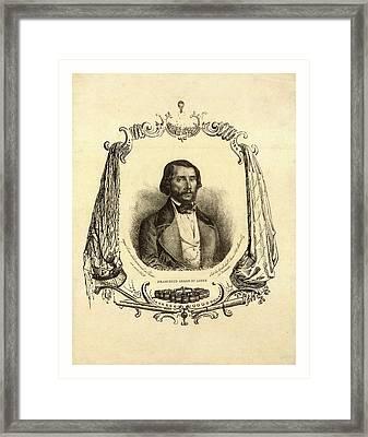 Francesco Arban Di Lione, Head-and-shoulders Portrait Framed Print by French School
