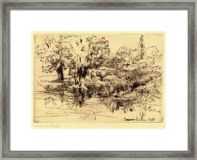 Francis Seymour Haden, British 1818-1910 Framed Print by Litz Collection