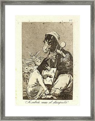 Francisco De Goya Spanish, 1746-1828. Si Sabrá Mas El Framed Print by Litz Collection