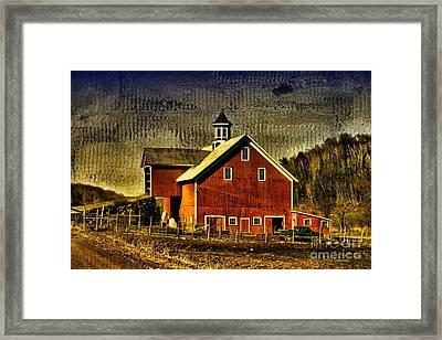 Franklin Spring Barn Framed Print