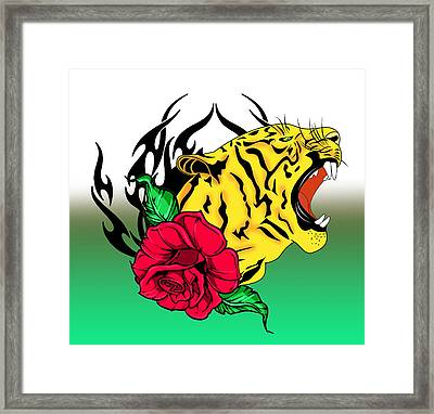 Freak Tiger  Framed Print