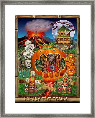 Freaky Tiki Tombs Framed Print by Glenn Holbrook