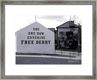 Free Derry Corner 7 Framed Print