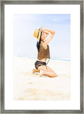 Free Woman Framed Print by Jorgo Photography - Wall Art Gallery