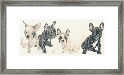 French Bulldog Puppies Framed Print