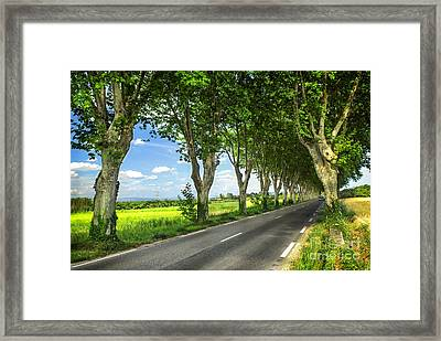 French Country Road Framed Print