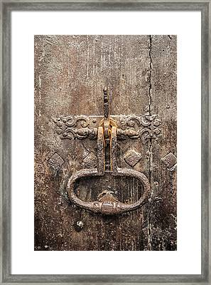 French Door Knocker Framed Print