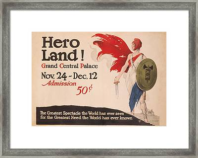French Hero Land Poster Framed Print by Underwood Archives