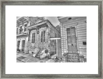 French Quarter Shotgun Framed Print