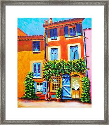 French Real Estate Framed Print