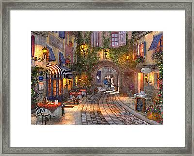 French Walkway Framed Print by Dominic Davison