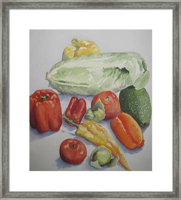 Fresh From The Garden Framed Print by Maria Hunt