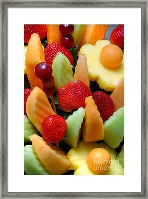 Fresh Fruit Arrangement Framed Print by Amy Cicconi