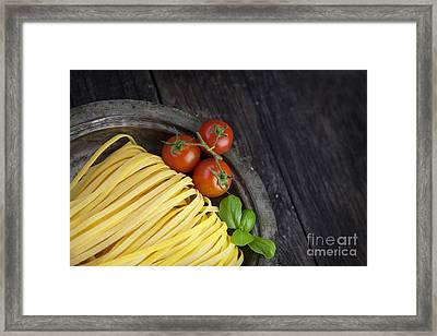 Fresh Pasta Framed Print by Mythja  Photography